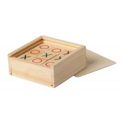 9 elementowa, drewniana gra w kółko i krzyżyk w drewniany etui - AP721447