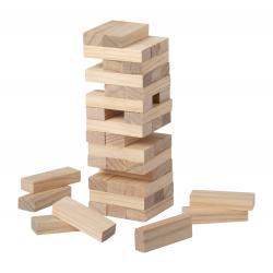 """45 elementowa, drewniana gra """"wieża"""" w bawełnianym pokrowcu. - AP721449"""