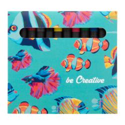 Kredki świecowe (12 szt) w full kolorowym pudełku z własną grafiką - AP718339