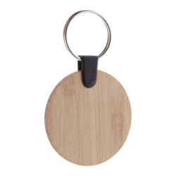 Brelok ze sklejki bambusowej z metalowym kółkiem - AP718370