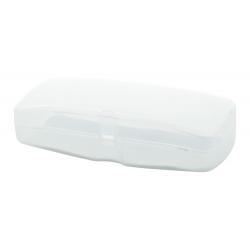Plastikowe etui na okulary wyściełane białą pianką - AP810443