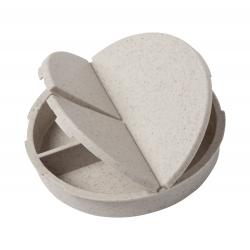 Okrągłe pudełko na tabletki z 3 przegrodami z ekologicznego plastiku - AP721460