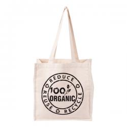 Bawełniana torba na zakupy z długimi uchwytami, o gramaturze 270 g/m2 - R08503