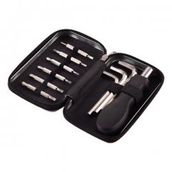 Zestaw narzędzi w metalowym pudełku zasuwanym na zamek - R17727