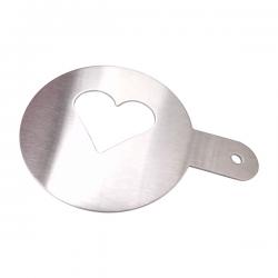 Wykonany ze stali nierdzewnej, szablon w kształcie serca - R17104