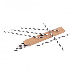 Zestaw 10 słomek papierowych w pudełku - R08222
