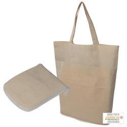 Składana ekologiczna torba bawełniana z długimi uszami - MA 6085913
