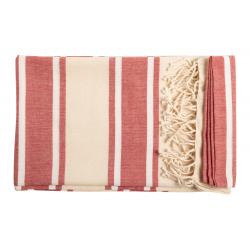 Ręcznik plażowy, dwukolorowy z 100% bawełny organicznej - AP721622