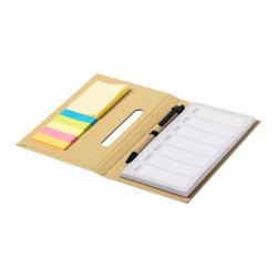 Notatnik / wieczny organizer tygodniowy z kartonu z recyklingu z karteczkami samoprzylepnymi  - AP721682