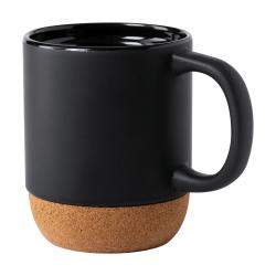 Kubek ceramiczny z podstawką z naturalnego korka, 420 ml - AP721707