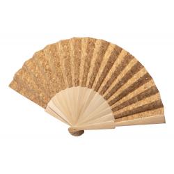 Wachlarz z naturalnego korka z drewnianym ożebrowaniem - AP721648