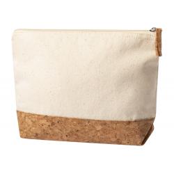 Zapinana kosmetyczka z bawełny i naturalnego korka - AP721730