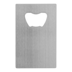 Otwieracz do butelek ze stali nierdzewnej w kształcie karty kredytowej - AP809561