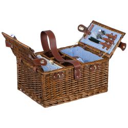 Wiklinowy kosz piknikowy dla 4 osób - MA 6127601
