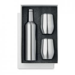 Butelka ze stali nierdzewnej z dwoma kubkami - MO9971