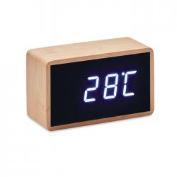 Bambusowy budzik LED - MO9921