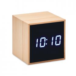 Bambusowy budzik LED - MO9922