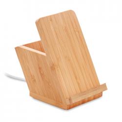Ładowarka bezprzewodowa w bambusowej obudowie - MO9914