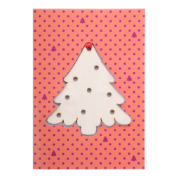 Robiona na zamówienie karta świąteczna z własnego projektu grafiką po dwóch stronach - AP718781