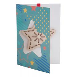 Robiona na zamówienie karta świąteczna z własnego projektu grafiką po dwóch stronach - AP718781-A