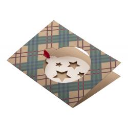Personalizowana, papierowa kartka świąteczna - AP718645-B