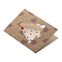 Personalizowana, papierowa kartka świąteczna - AP718645-C