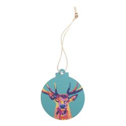 Personalizowana ozdoba choinkowa z tektury z naturalnym sznurkiem - AP718657