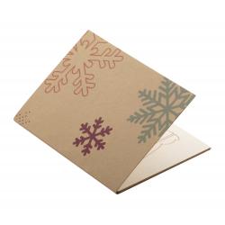 Personalizowana, papierowa kartka świąteczna - AP718646-E