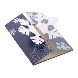 Personalizowana, składana papierowa kartka świąteczna z grafiką po obu stronach - AP718658-A