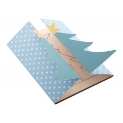 Personalizowana, składana papierowa kartka świąteczna z grafiką po obu stronach - AP718658-B