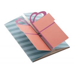 Personalizowana, składana papierowa kartka świąteczna z grafiką po obu stronach - AP718658-C