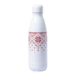 Aluminiowa butelka z motywem świątecznym i karabińczykiem, 790 ml - AP721800