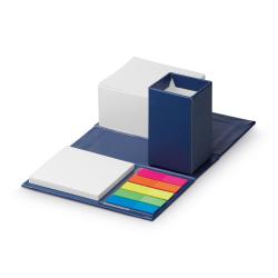 Zestaw karteczek samoprzylepnych ze stojakiem na ołówki w rozkładanej kostce z papieru - ST 53434