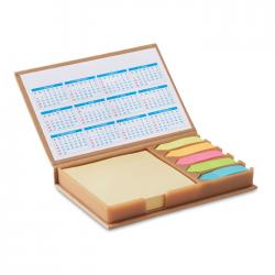 Zestaw biurkowy z kartkami memo oraz kolorowymi znacznikami - MO9394