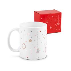 Kubek ceramiczny z motywem świątecznym, 340 ml -  - ST 93838