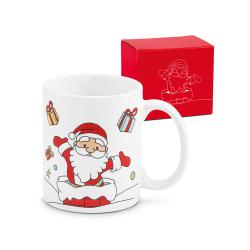 Kubek ceramiczny z motywem świątecznym, 350 ml - ST 93839