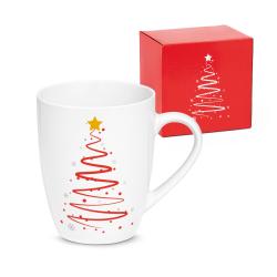 Kubek ceramiczny świąteczny, 350 ml - ST 93841