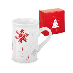Kubek ceramiczny z motywem płatka śniegu, 350 ml - ST 93986