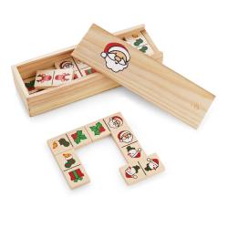 Drewniane domino z świątecznymi figurkami - ST 98087
