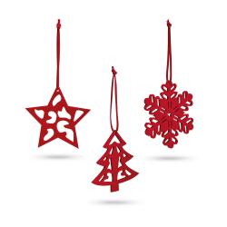 Zestaw filcowych dekoracji świątecznych - ST 99323