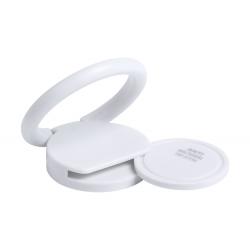 Antybakteryjny, plastikowy uchwyt na telefon z samoprzylepną podstawą i żetonem do wózka - AP721804