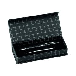 Metalowy, przekręcany długopis z niebieskim wkładem - AP741114