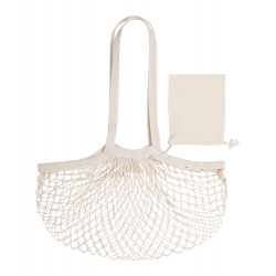 100% bawełny, siatkowa torba na zakupy z długimi uchwytami - AP721704