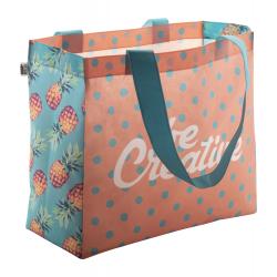 Personalizowana, torba z włókniny RPET z dnem i długimi uchwytami, 80 g/m² - AP718902