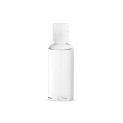 Żel do mycia rąk w butelce PET o pojemności 50 ml z płaskim zamknięciem z klapką - ST 94919