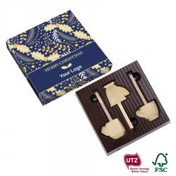3 czekoladowe filiżanki z mieszadełkiem - 0099/Xmas