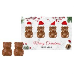 Świąteczna kartka z czekoladkami misie - Nr kat.: 0183/Xmas