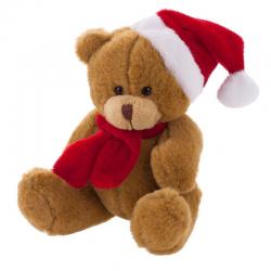Pluszowy miś świąteczny - HE261