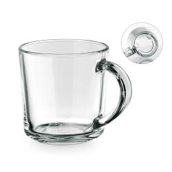 Kubek szklany z motywem na dnie (uśmiech) - ST 94024