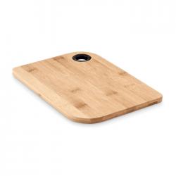 Deska do krojenia z drewna bambusowego z otworem do zawieszania - MO6144